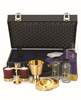 2236G Mass Kit mass kit, alviti creations, 2236g, candlesticks, cruets, tray, host box, ciboria, carrying case, sacred vessels, church goods, church kits,
