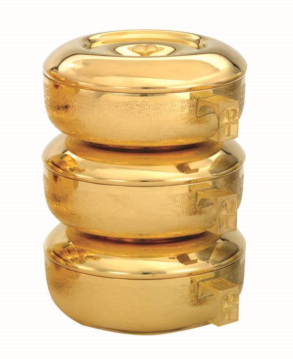 451G 1 Piece Ciboria  ciboria, stacking ciboria, gold plated, alviti creations, host holders, 451G Piece