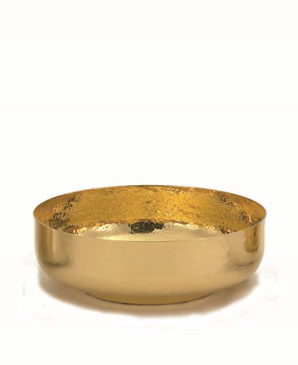B-68G Bowl Ciborium  ciboria, open ciboria, gold plated, alviti creations, host holders, B-68G, BOWL CIBORIA