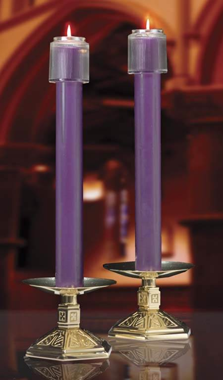 Purple 51% Beeswax Altar Candles