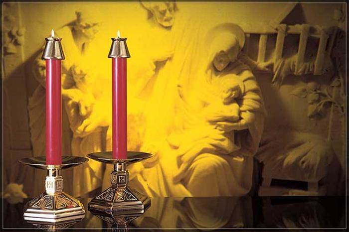 1 1/2 X 12 51% Beeswax Red Altar Candle 1 1/2 X 12 51% Beeswax Red Altar Candle,82512506,84678601709