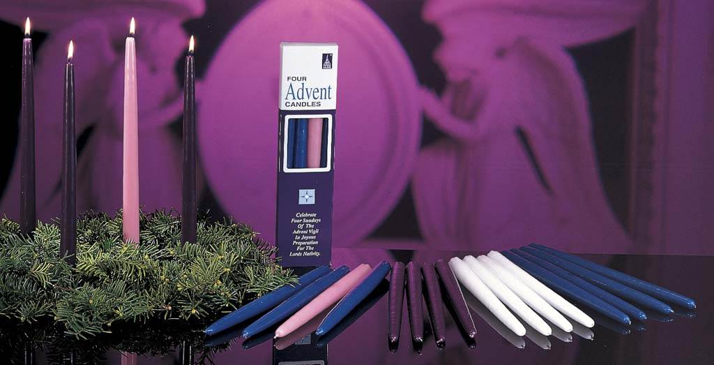 "12"" Advent Taper Candle (Individual)"