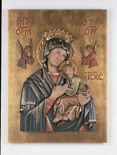 Mother of Perpetual Help Wall Relief
