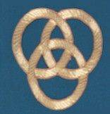Embroidered Trinity Knot Applique