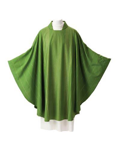 14 Rayada Chasuble 14 Rayada Chasuble, 14, rayada, vestment, robe, sorgente, manantial, green, white, purple, red, catholic chasuble,sorgento,