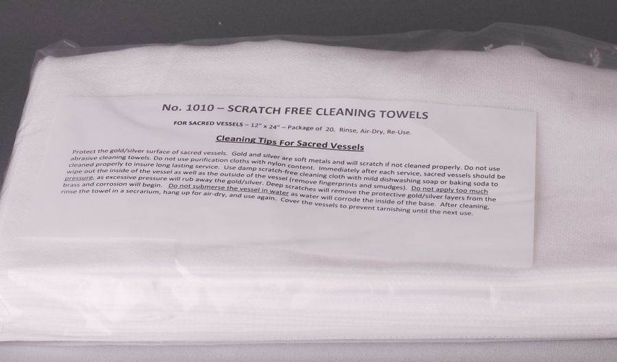 Scratch Free Cleaning Towel for Sacred Vessels