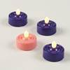 Battery Operated Tea Light Advent Candles, Set 4
