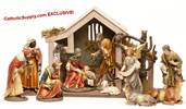 "8"" Heavens Majesty® Nativity Set with Stable *WHILE SUPPLIES LAST* Heavens Majesty® Nativity Set with Stable, nativity with stable, nativity stable, heavens majesty, heavans majesty, wood nativity"