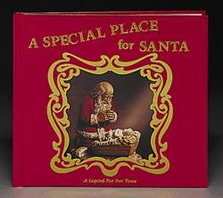 Special Place For Santa Book Special Place For Santa Book, kneeling santa book, childrens christmas book, kids xmas book, childs xmas book, childs christmas book, santa in manger book, santa with christ child book