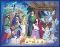 Paper Advent Calendar with Glitter Paper Advent Calendar with Glitter, nativity advent calendar,