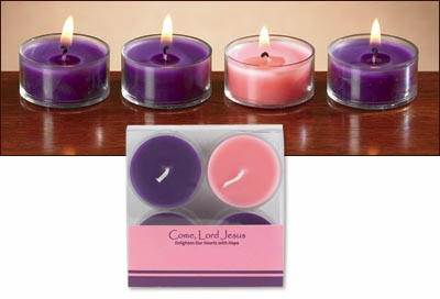 Advent Tealight Candle Set