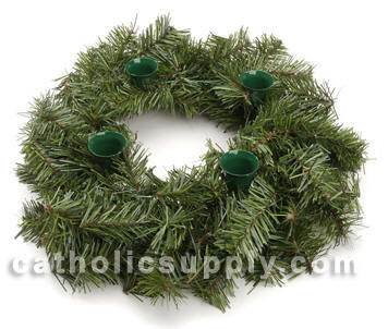"18"" Evergreen Advent Wreath"