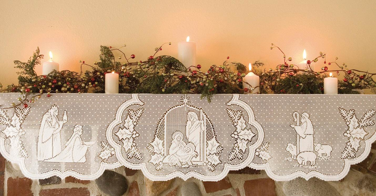 Lace Nativity Mantle Scarf