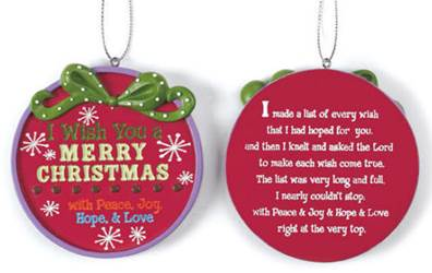 I Wish You A Merry Christmas Ornament