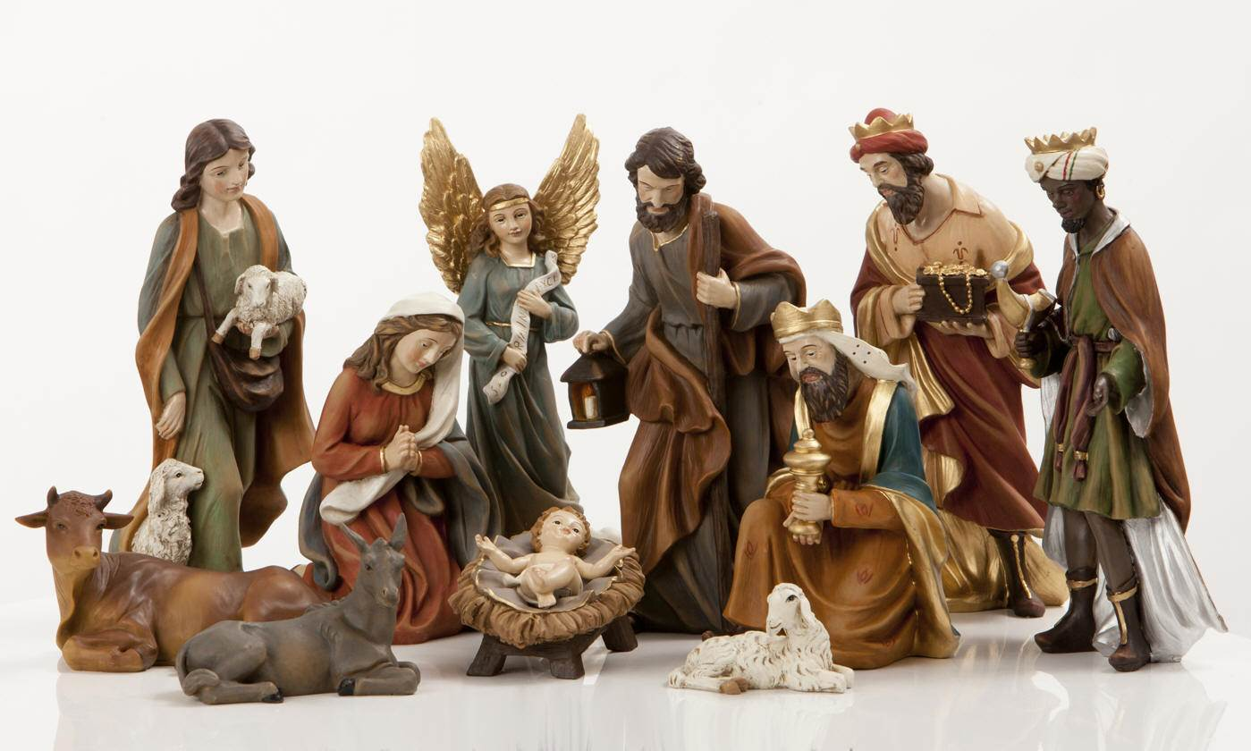 "8"" Heavens Majesty Nativity Figure Set *WHILE SUPPLIES LAST* Heavens Majesty® Nativity Figure Set, heavens majesty, haevens majesty, nativity figure set, wood look nativity figures, wood nativity"