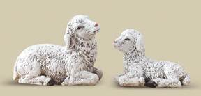 "3.25"" Set Of 2 White Sheep"