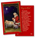 Kneeling Santa Holy Card