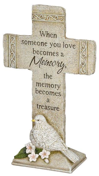 When Someone You Love... Garden Cross memorial grave cross, memorial garden cross, grave cross, grave marker, in memory of loved one cross, in memory cross, remembrance cross, funeral cross, funeral gift, keepsake for loss of loved one