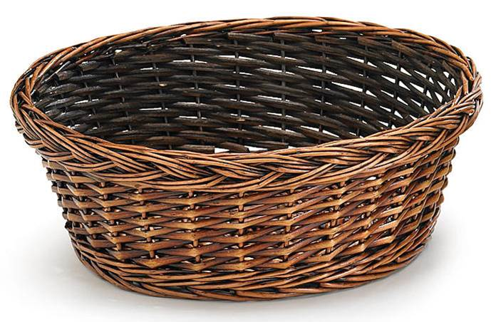 "Value 12"" Round Collection Basket, Walnut"