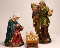 WOODCARVED HOLY FAMILY  © Copyright Catholic Supply of St. Louis, Inc.  All Rights Reserved