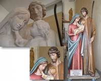 CUSTOM WOODCARVED HOLY FAMILY  © Copyright Catholic Supply of St. Louis, Inc.  All Rights Reserved