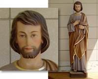 CUSTOM ST. JOSEPH WOODCARVED STATUE  © Copyright Catholic Supply of St. Louis, Inc.  All Rights Reserved