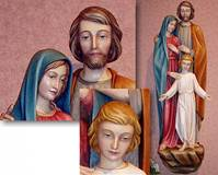 CUSTOM HOLY FAMILY WALL WITH CHILD JESUS WALL RELIEF  © Copyright Catholic Supply of St. Louis, Inc.  All Rights Reserved