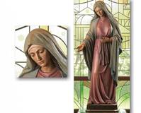 WOODCARVED MARY STATUE  © Copyright Catholic Supply of St. Louis, Inc.  All Rights Reserved