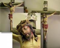 Custom Wood Carved Crucifix