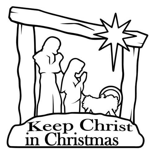 "Nativity Decal ""Keep Christ In Christmas"""