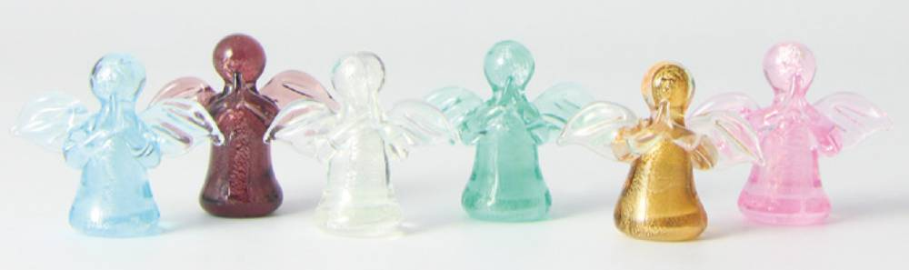 "Assorted 1"" Glass Angels angel pocket token, glass angel, colorful angels, mini angel, miniature angel, small angel statue, mini angel statue, colorful angels, mini colorful angels, glass angels, handmade angels, hand made angels, pocket angel, pocket sized angel, religious angel statue, angel statue, inexpensive angel statue, sale angel statue, cheap angel statue,quantity discounts,"