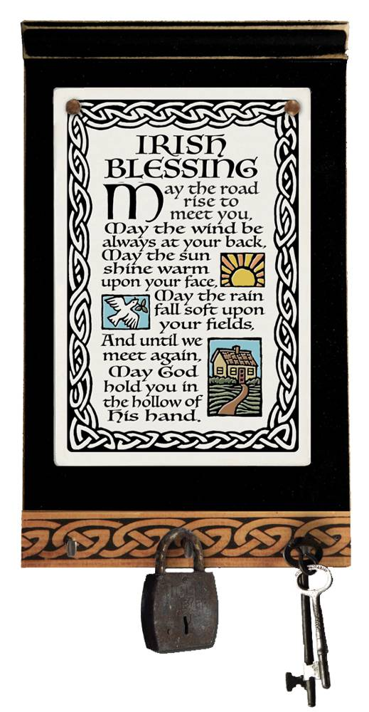 Irish Blessing Keyholder key holder, inspirational ceramic plaque, inspirational ceramics, irish blessing plaque, irish blessing ceramic, irish blessing for home, irish blessing wall decor, irish blessing