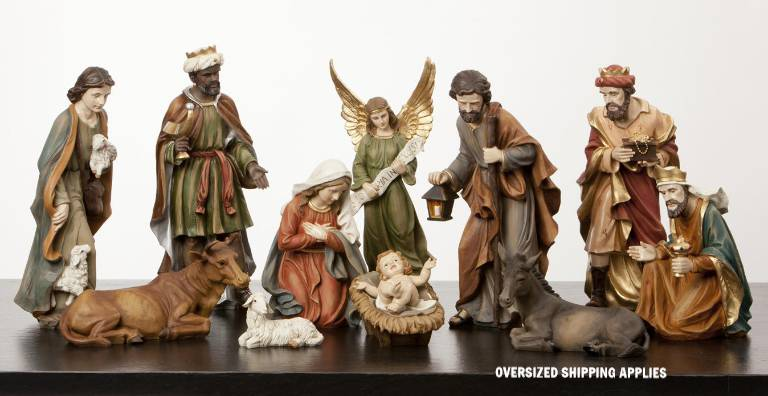 "14"" Full Color Heaven%27s Majesty 12 Piece Nativity Set *WHILE SUPPLIES LAST* nativty, christmas nativity, christmas gift, wedding gift,  12 piece nativity, heavens majesty, 14"", 22536"