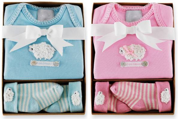 """I Am Blessed"" Lamb Onesie & Sock Sets"