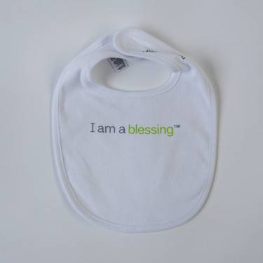 %27I am a blessing%27 ™Bib cmas15n, baby gear, hat, i am a blessing, white bib, green words, youth, girl, boy, baby gift, baby shower gift, baptism gift,