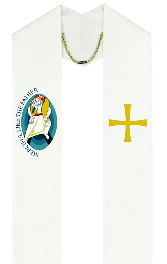5202 Holy Year of Mercy Stole 5202, stole, holy year of mercy, clergy apparel