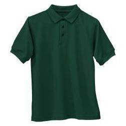 Unisex Hunter Green Jersey Knit Polo Shirt, Short Sleve school uniform knit shirt, green knit shirt, green uniform shirt, green polo shirt, green polo, short sleeve knit, short sleeve knit polo, short sleeve green shirt, green uniform shirt, green school uniform polo, green school uniform shirt