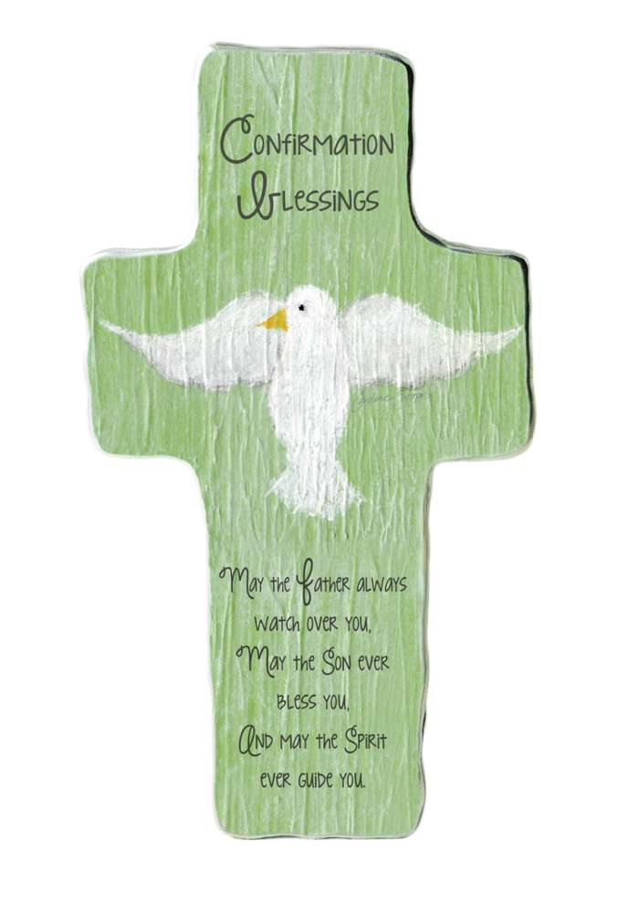 Confirmation Blessing Cross Plaque