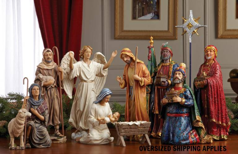 "First Christmas Gifts Nativity Set, 10"" Scale nativity set, indoor nativity, 10"" nativity set, christmas gift, wedding gift, GFM010 /GFM009 /GFM011"
