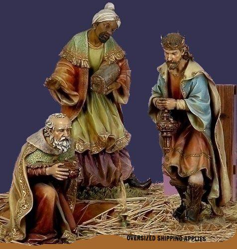 "27"" Scale Three Kings Set JS27, nativity set, nativity 3 kings, wisemen, christmas nativity, christmas figures, joseph studio, resin stone mix, oversized figures, 38010"
